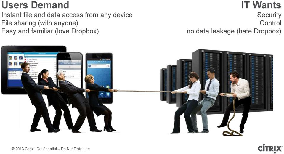 Easy and familiar (love Dropbox) IT Wants