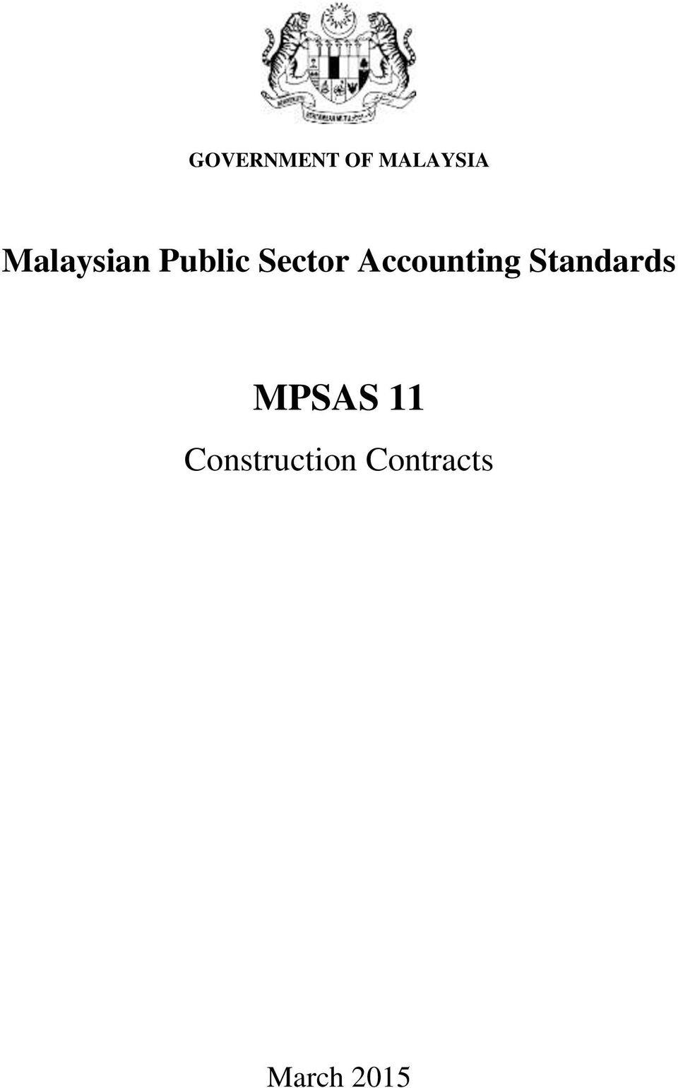 Accounting Standards MPSAS
