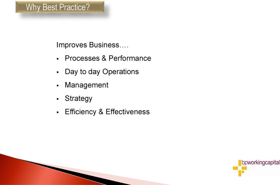 Processes & Performance Day