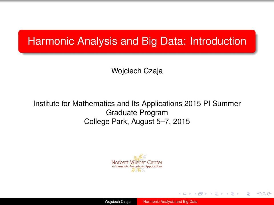 Applications 2015 PI Summer