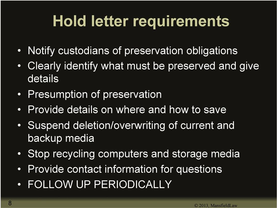to save Suspend deletion/overwriting of current and backup media Stop recycling computers and