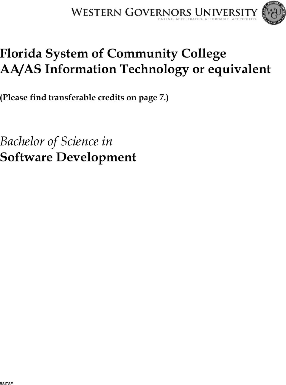 (Please find transferable credits on page 7.