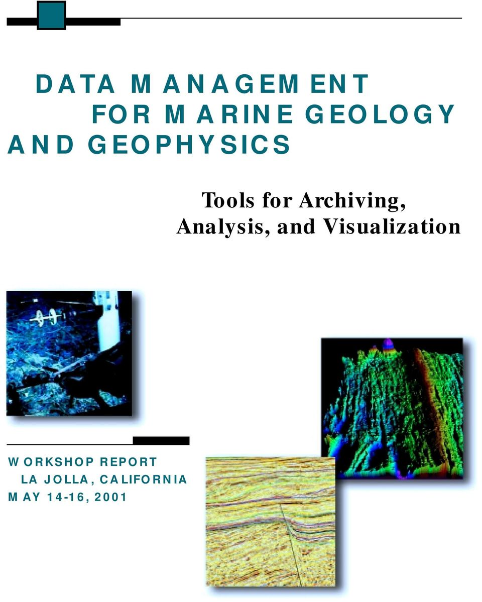 Analysis, and Visualization WORKSHOP