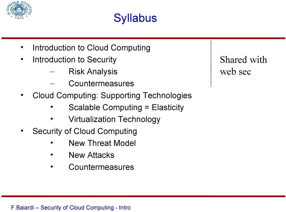 Scalable Computing = Elasticity Virtualization Technology Security of