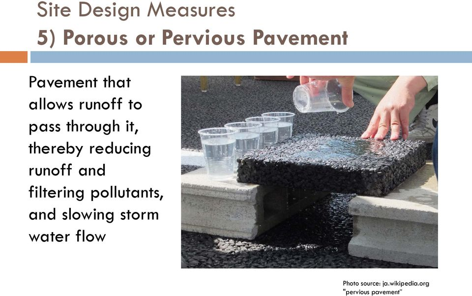 reducing runoff and filtering pollutants, and slowing