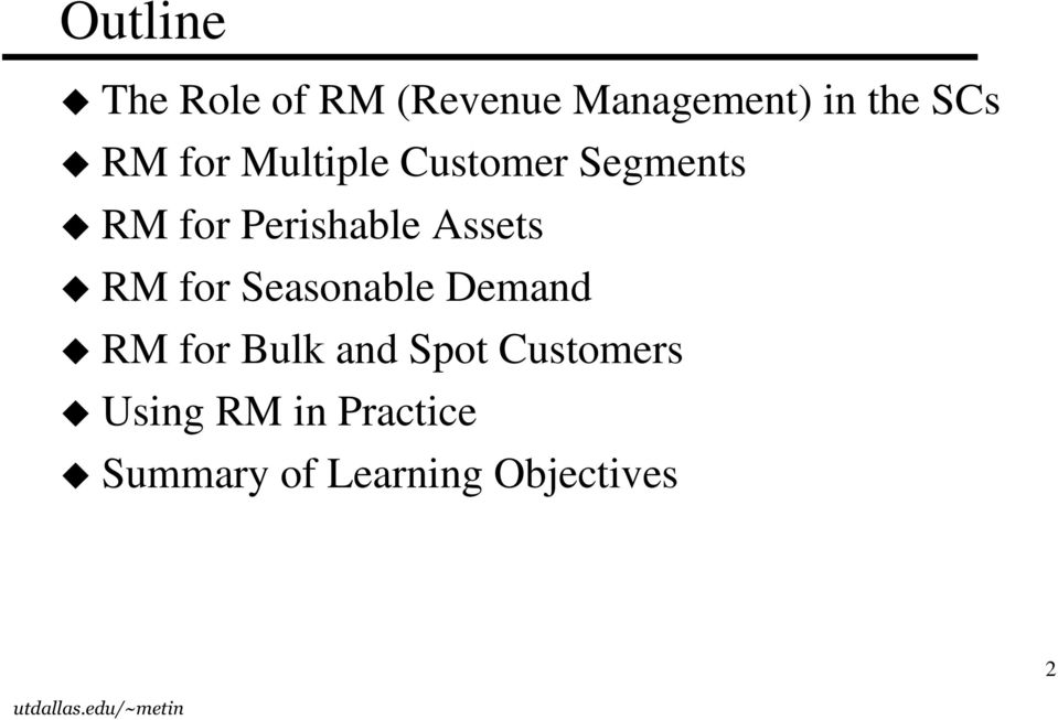 Assets RM for Seasonable Demand RM for Bulk and Spot