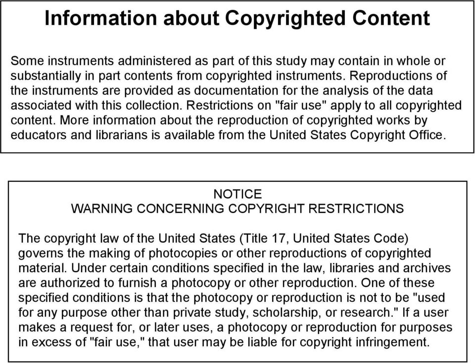 More information about the reproduction of copyrighted works by educators and librarians is available from the United States Copyright Office.