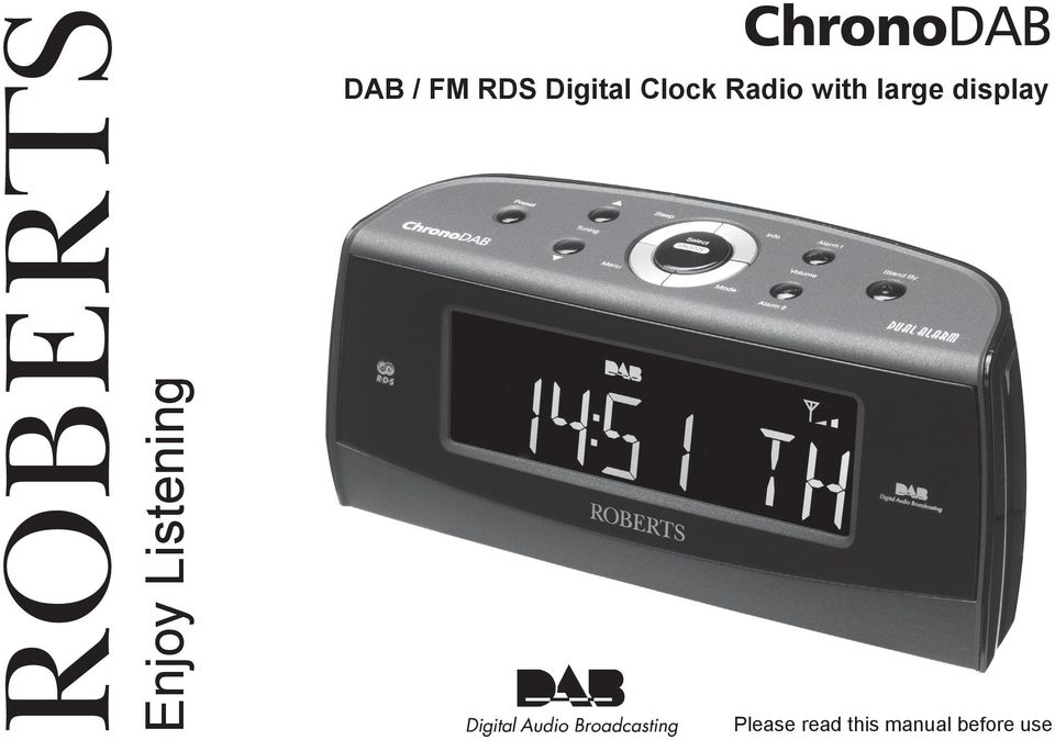 Radio with large display