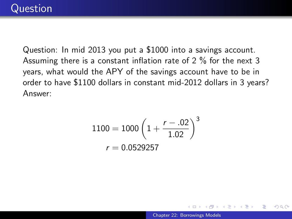 would the APY of the savings account have to be in order to have $1100 dollars