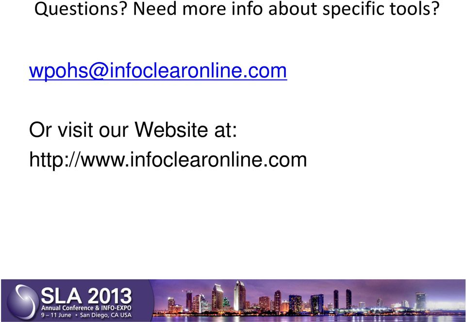 tools? wpohs@infoclearonline.