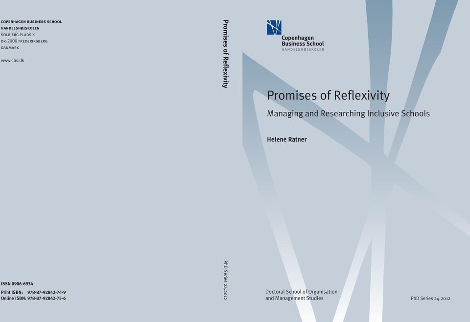 dk Promises of Reflexivity Promises of Reflexivity Managing and Researching Inclusive Schools