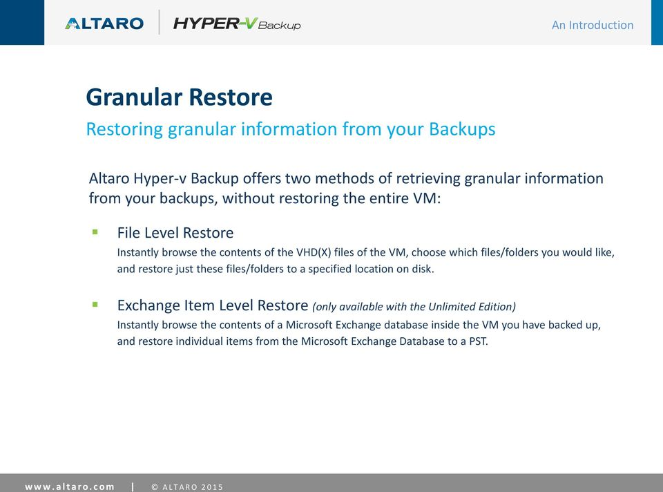restore just these files/folders to a specified location on disk.