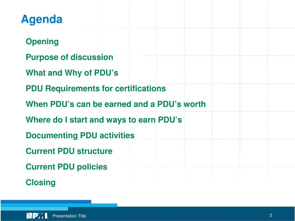 PDU s worth Where do I start and ways to earn PDU s Documenting
