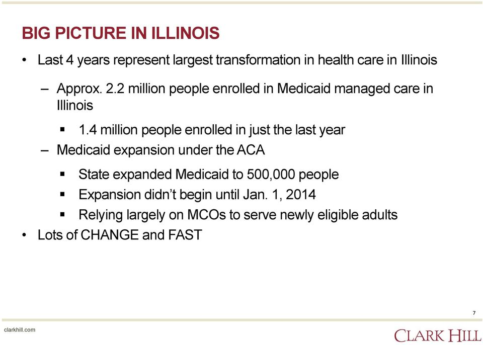 4 million people enrolled in just the last year Medicaid expansion under the ACA State expanded Medicaid