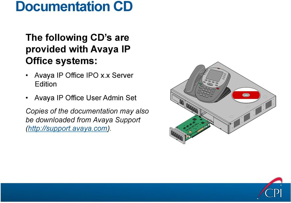 x Server Edition Avaya IP Office User Admin Set Copies of the