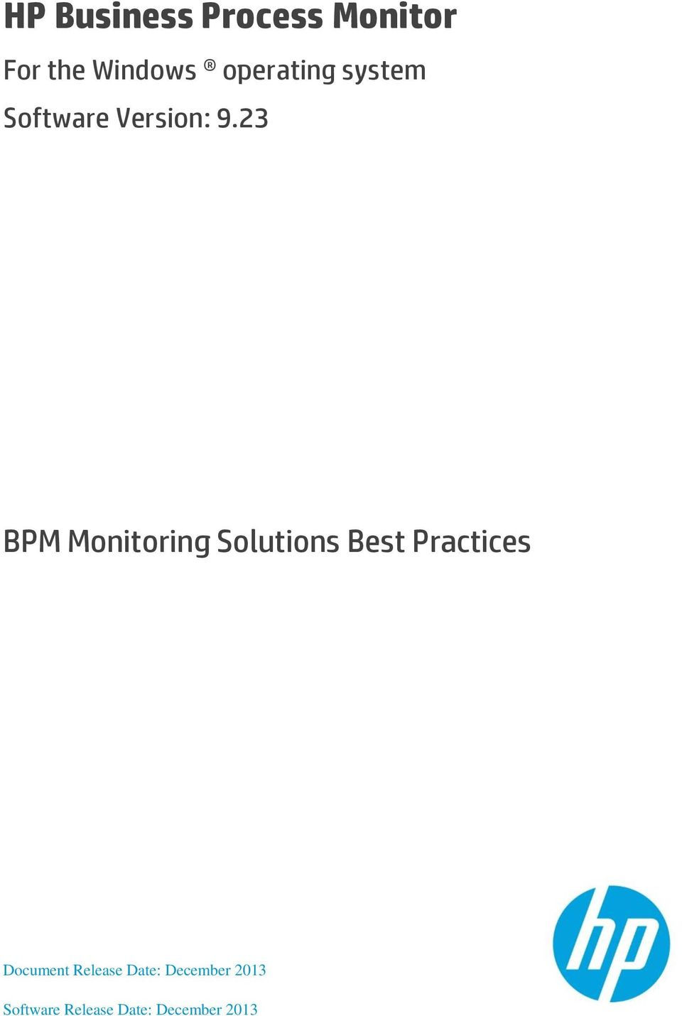23 BPM Monitoring Solutions Best Practices