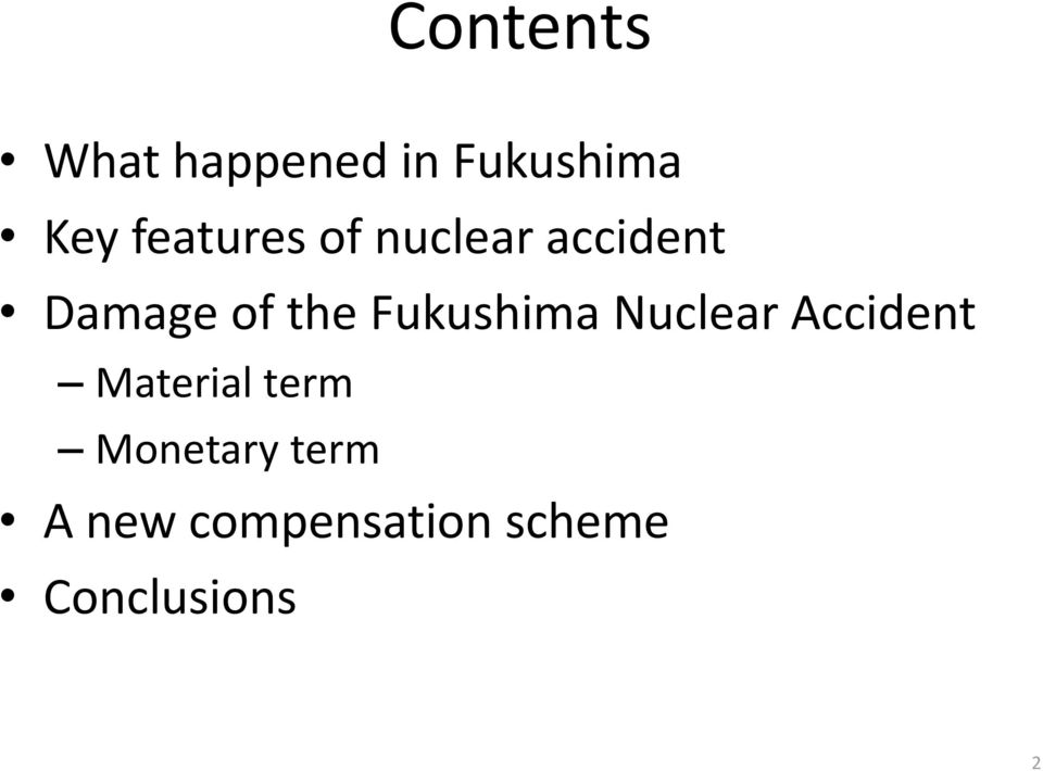 Fukushima Nuclear Accident Material term