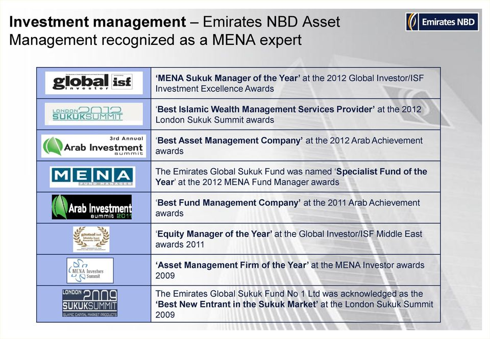 Emirates NBD  Wealth Management  Institutional Clients