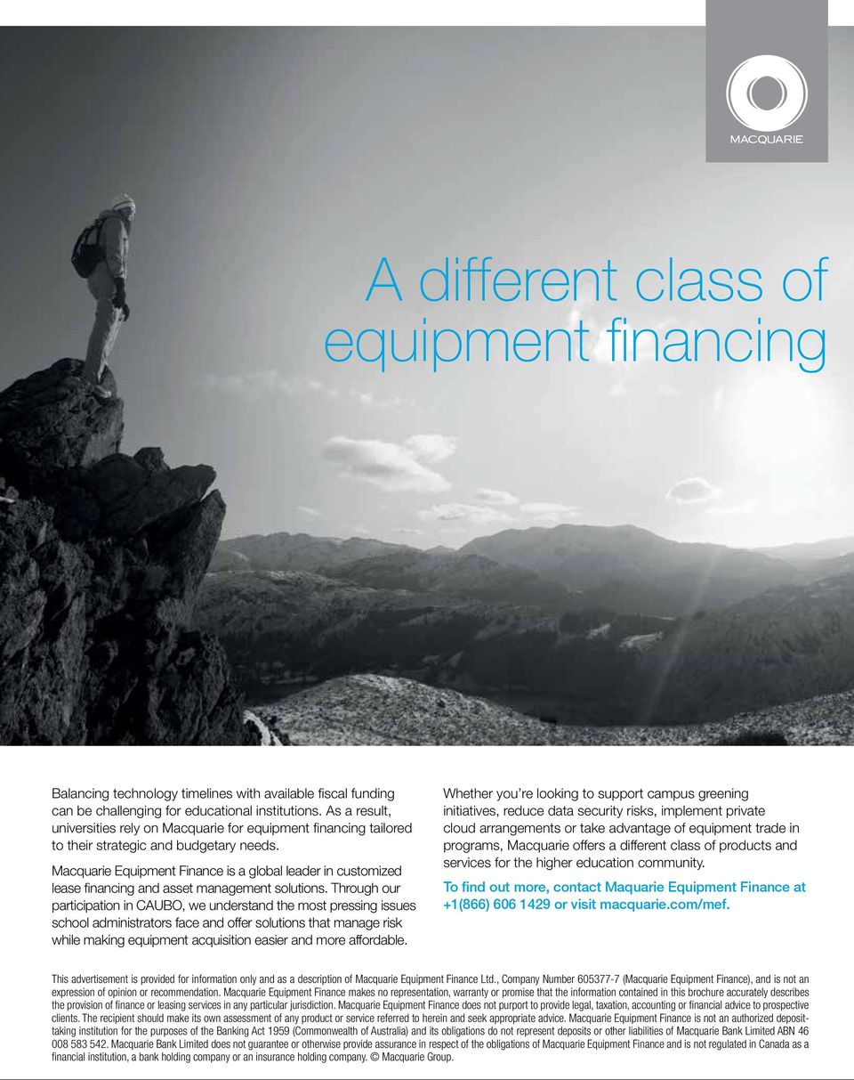 Macquarie Equipment Finance is a global lear in customized lease financing and asset management solutions.