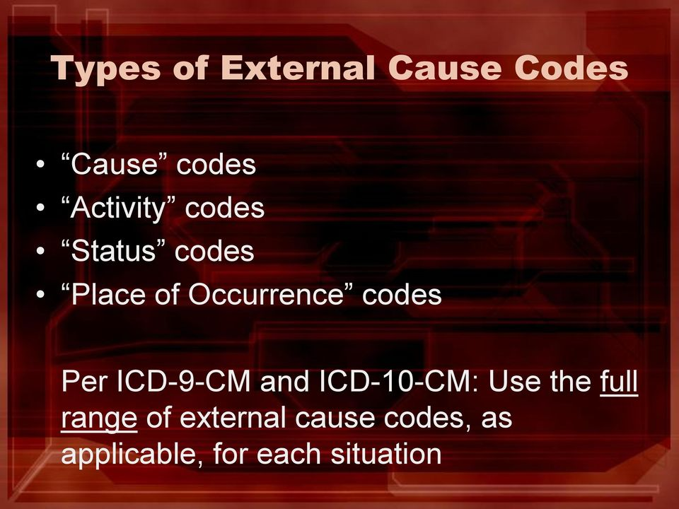 ICD-9-CM and ICD-10-CM: Use the full range of