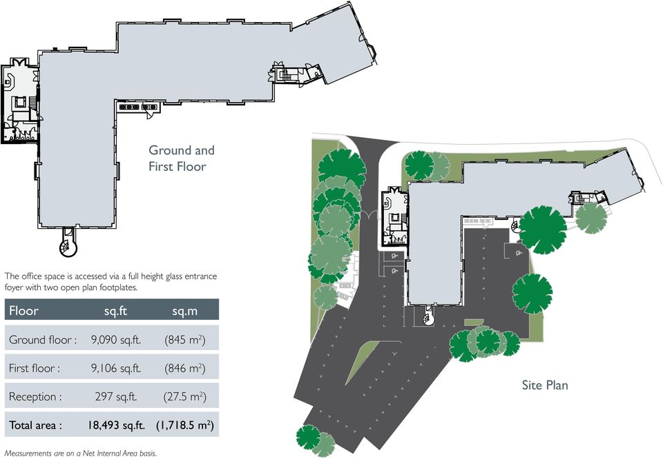 ft. (846 m 2 ) Reception : 297 sq.ft. (27.5 m 2 ) Site Plan Total area : 18,493 sq.ft. (1,718.