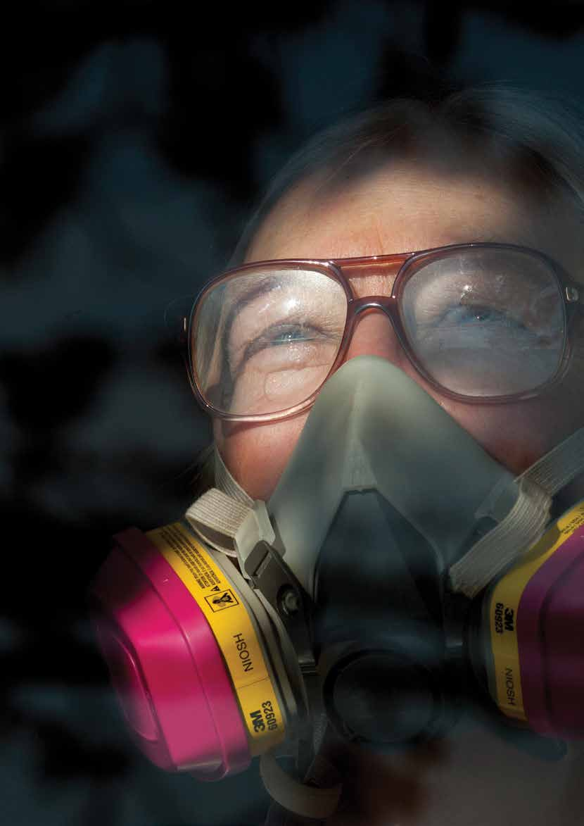 section three Image Maryellen McConnell uses a respirator in and around her Washington County home several days each week because of methane poisoning.