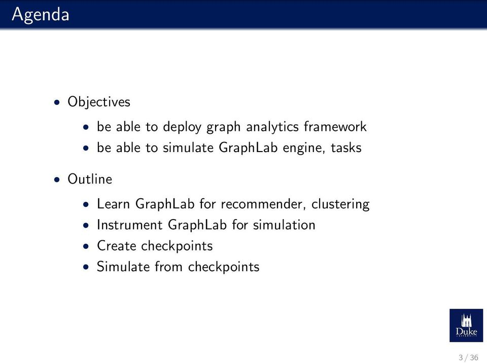 Learn GraphLab for recommender, clustering Instrument