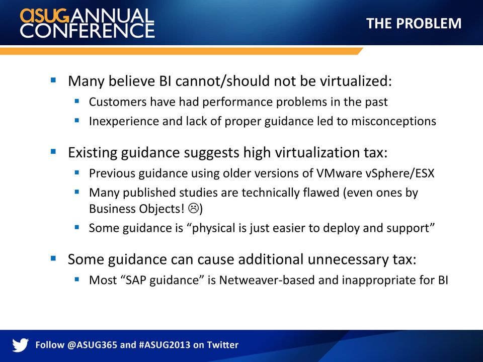 VMware vsphere/esx Many published studies are technically flawed (even ones by Business Objects!