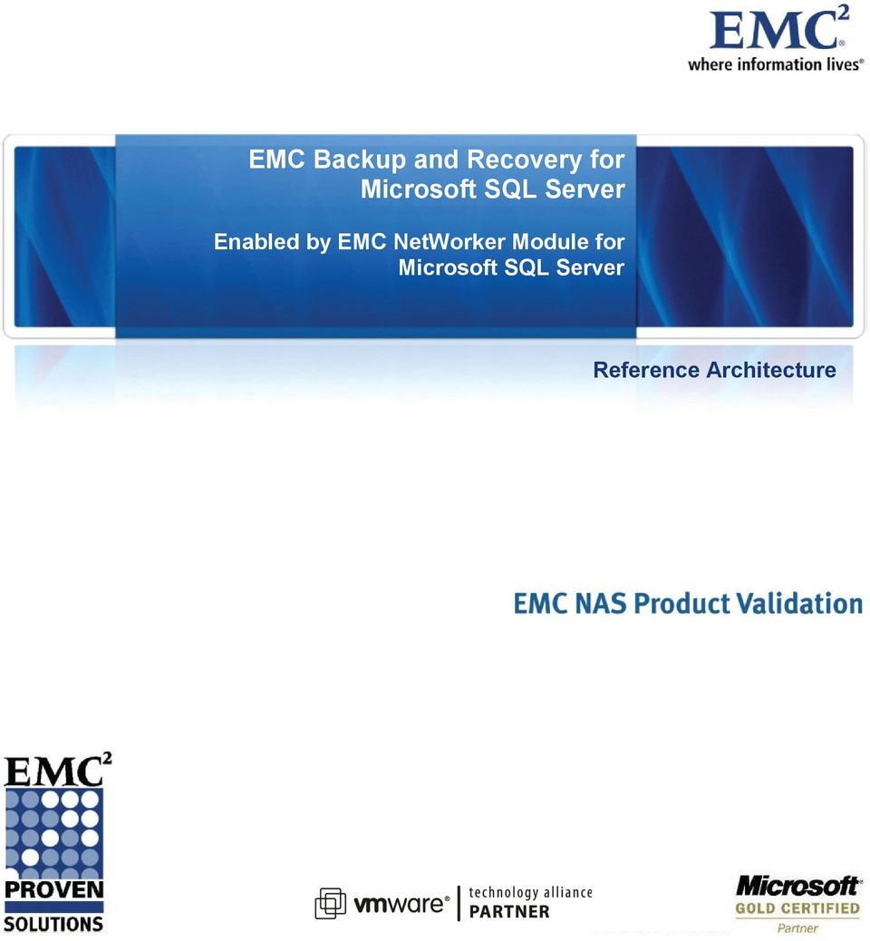 Enabled by EMC NetWorker