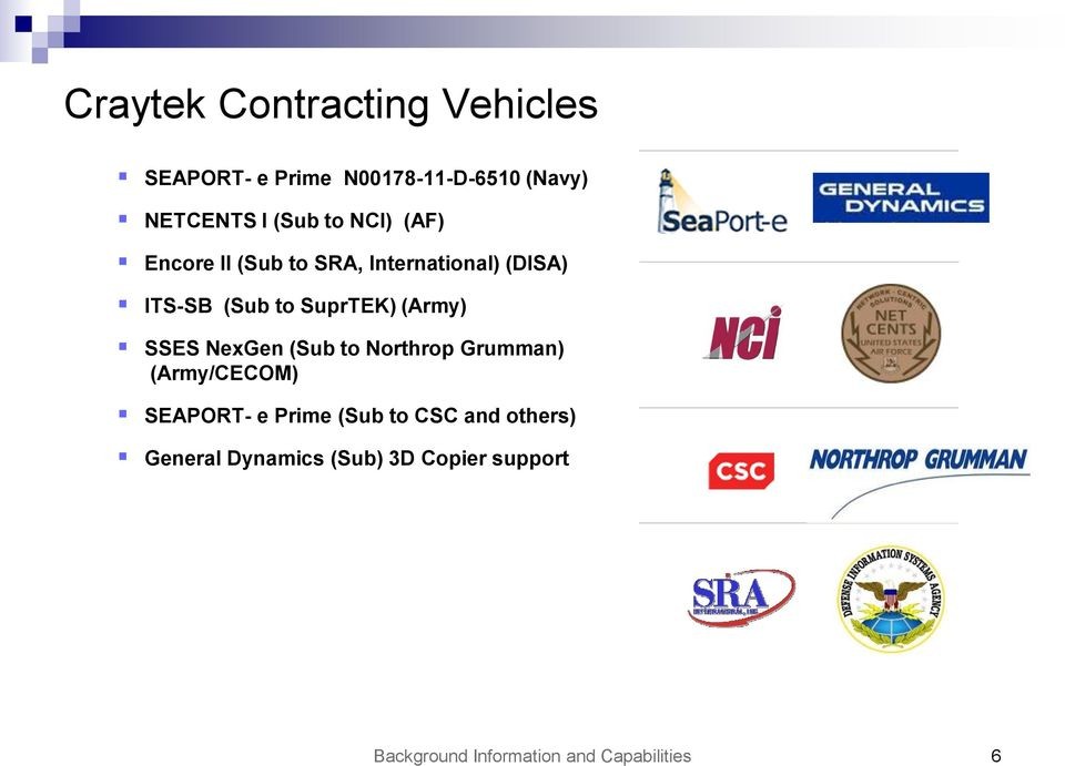 (Army) SSES NexGen (Sub to Northrop Grumman) (Army/CECOM) SEAPORT- e Prime (Sub to CSC