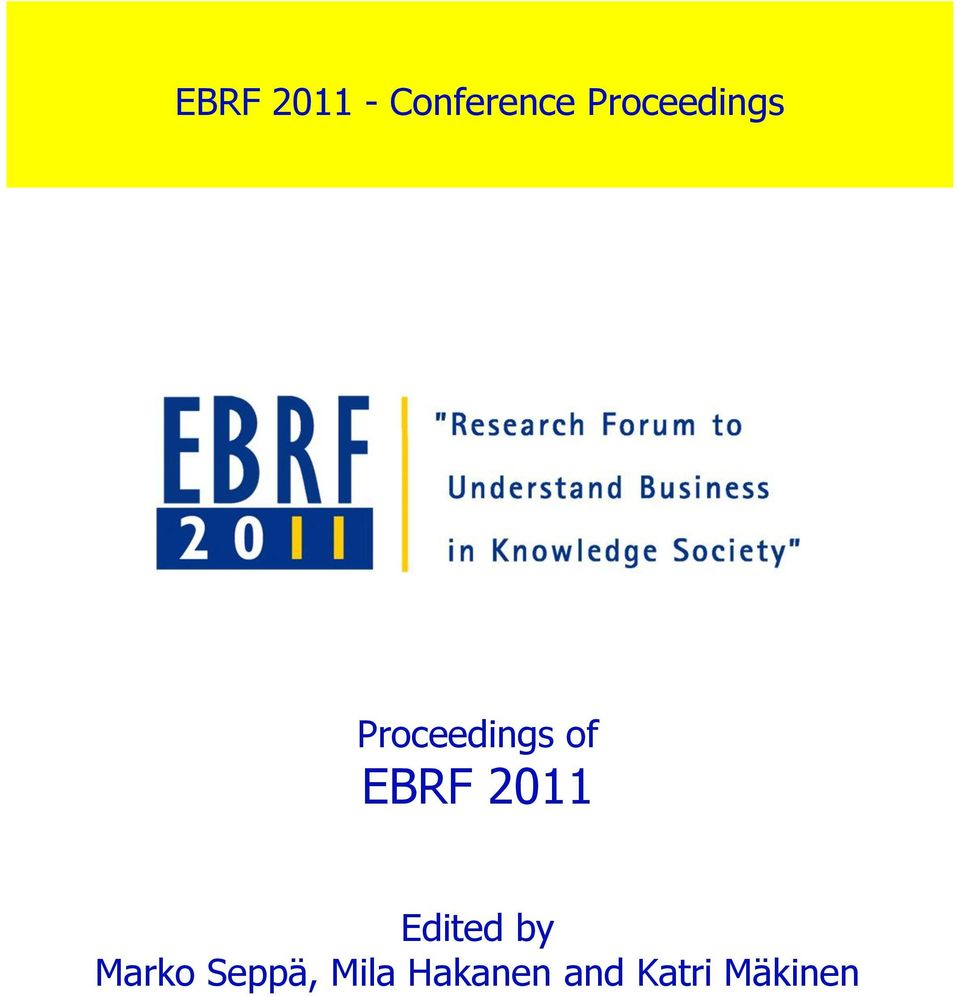 EBRF 2011 Edited by Marko