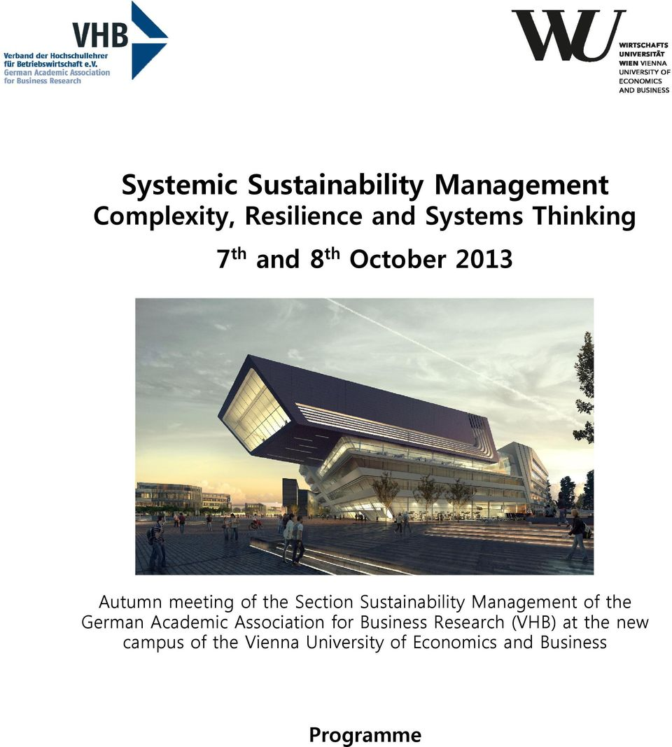 Sustainability Management of the German Academic Association for Business