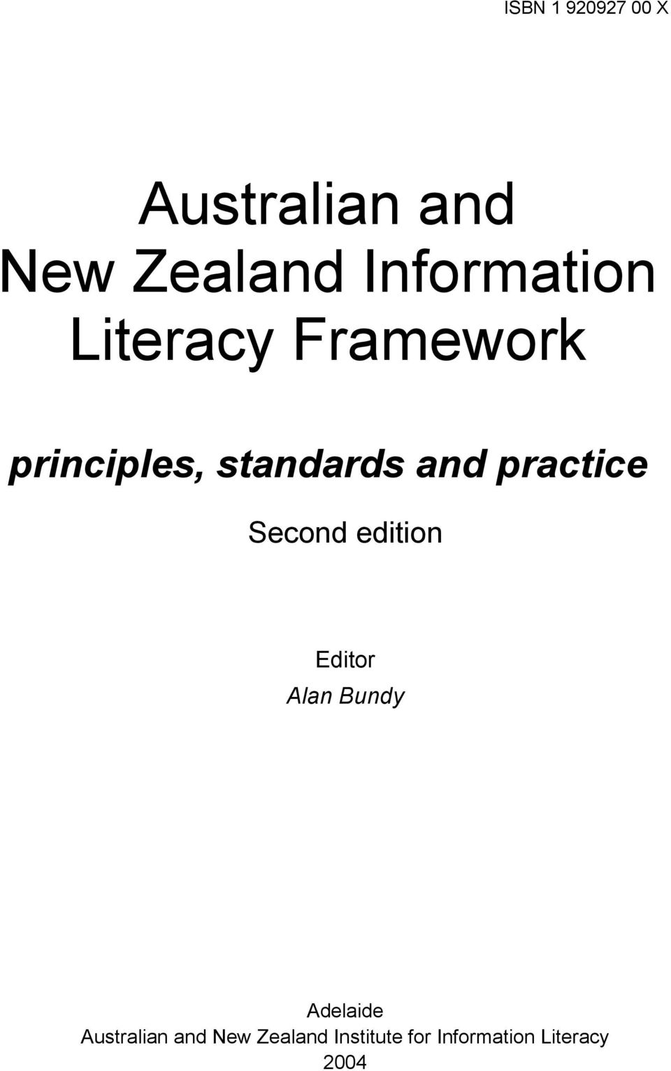 and practice Second edition Editor Alan Bundy Adelaide