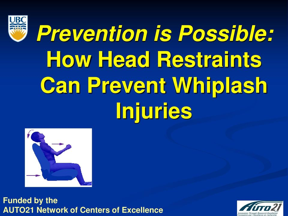 Whiplash Injuries Funded by the