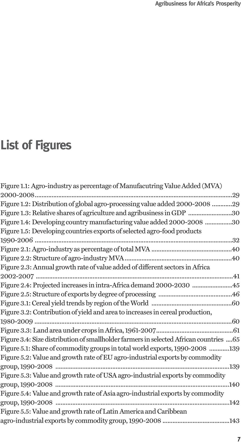 4: Developing country manufacturing value added 2000-2008...30 Figure 1.5: Developing countries exports of selected agro-food products 1990-2006...32 Figure 2.