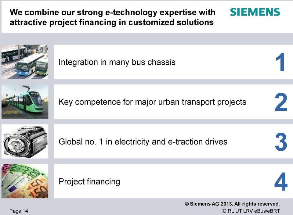 chassis 1 Key competence for major urban transport projects 2
