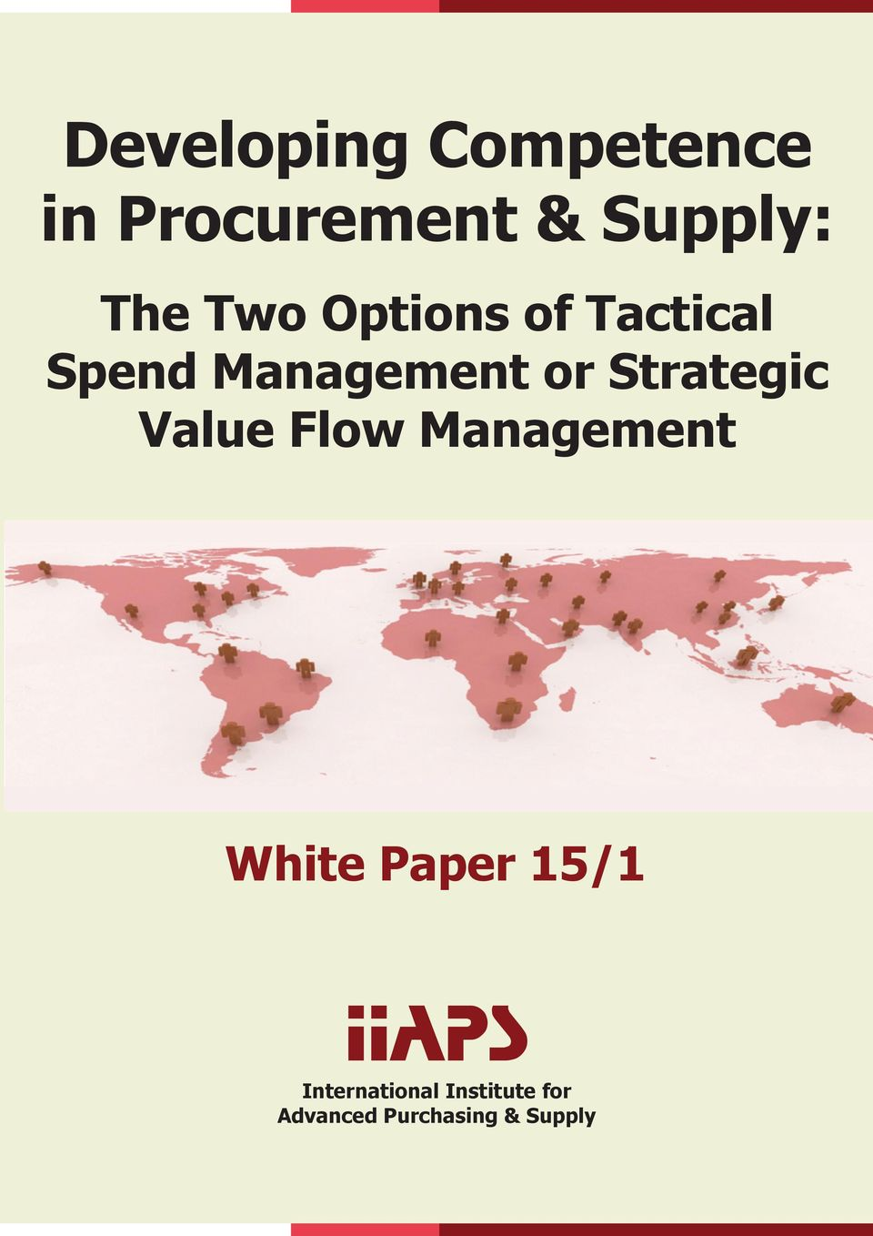Flow Management White Paper 15/1 IIAPS