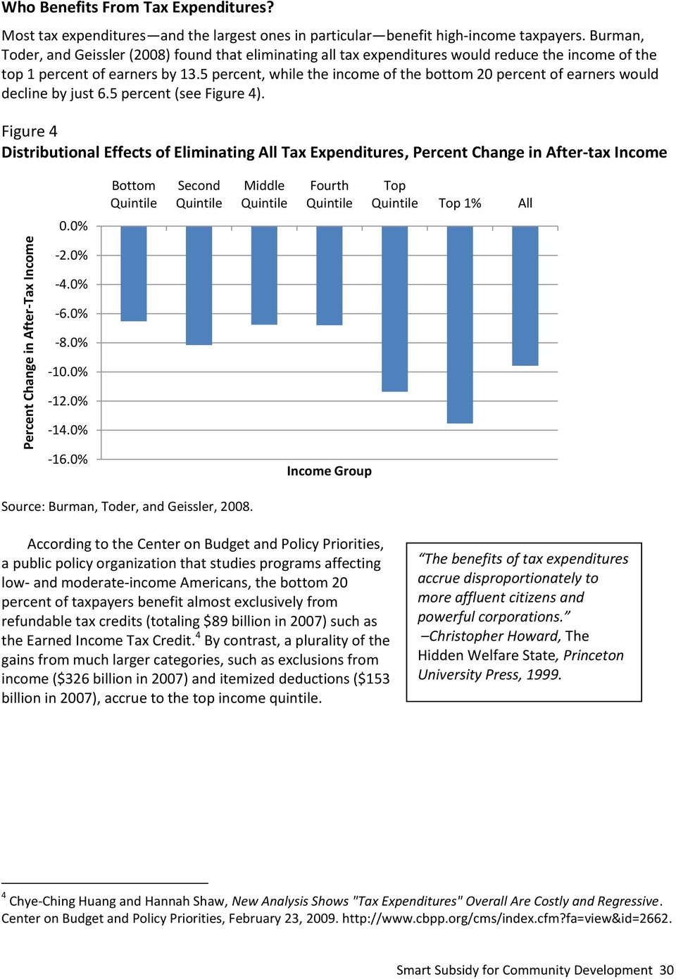 5 percent, while the income of the bottom 20 percent of earners would decline by just 6.5 percent (see Figure 4).