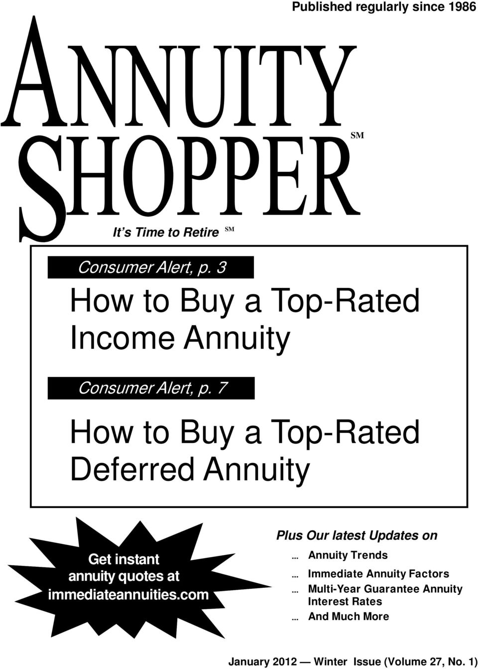 Updates on Get instant annuity quotes at immediateannuities.