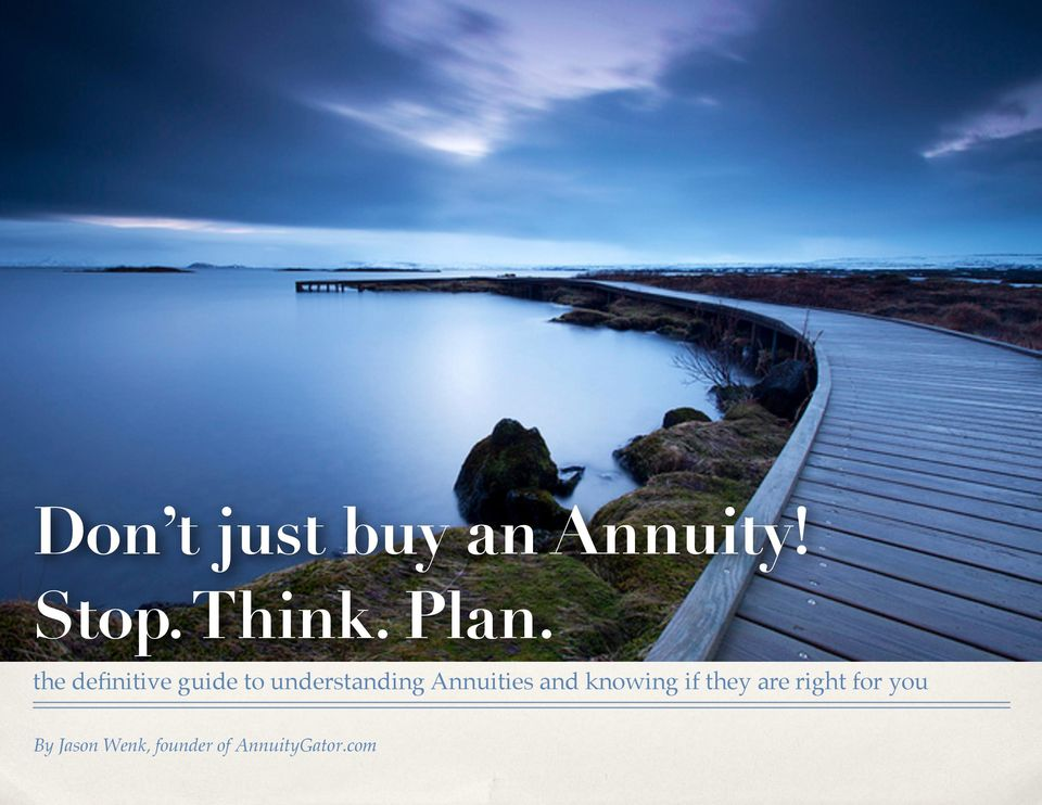 Annuities and knowing if they are right for