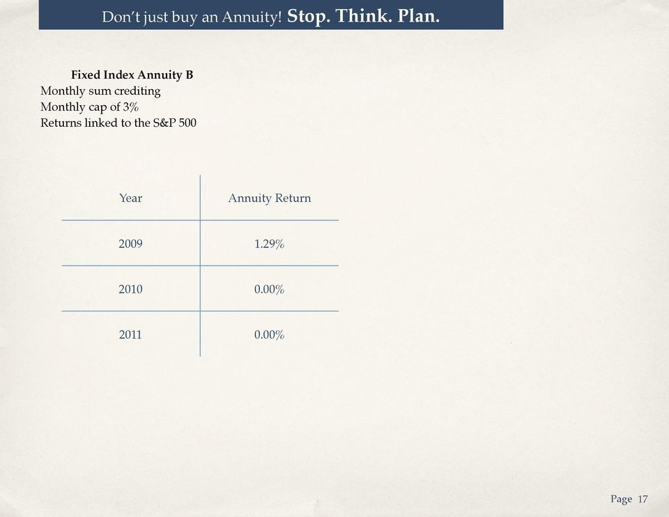 linked to the S&P 500 Year Annuity