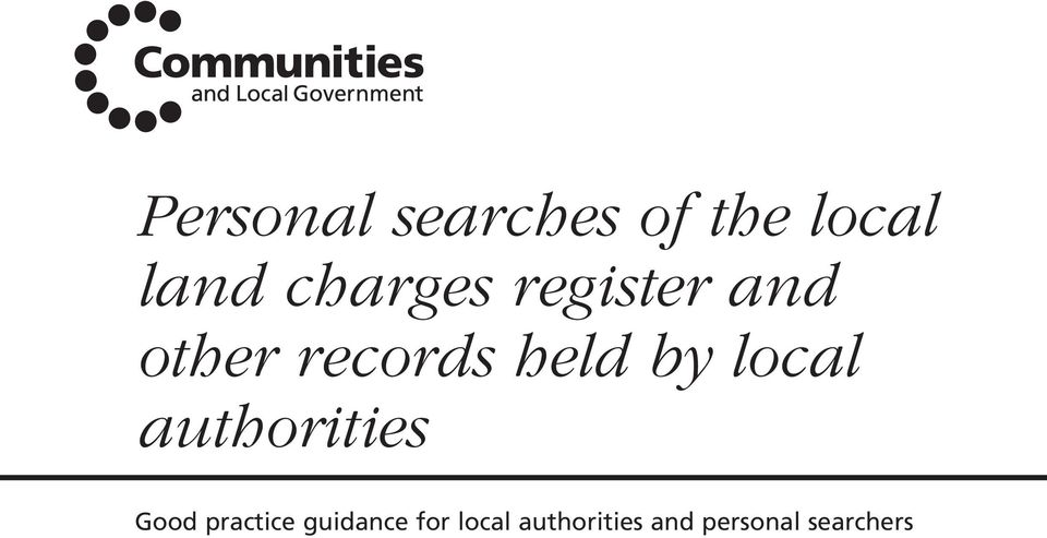 by local authorities Good practice
