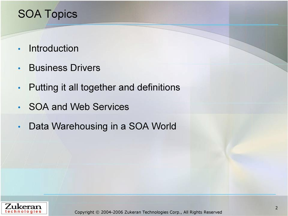 and definitions SOA and Web