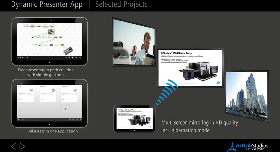 gestures All assets in one application Multi