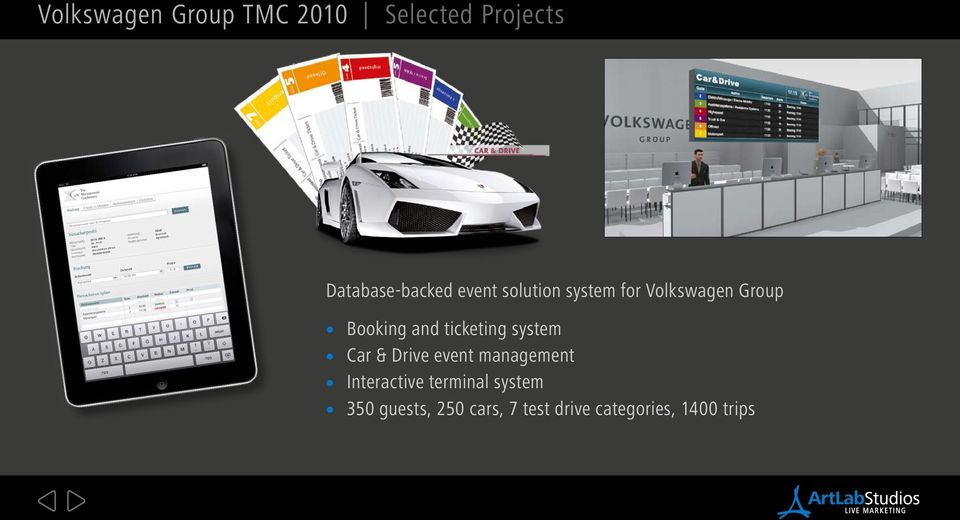 ticketing system Car & Drive event management Interactive