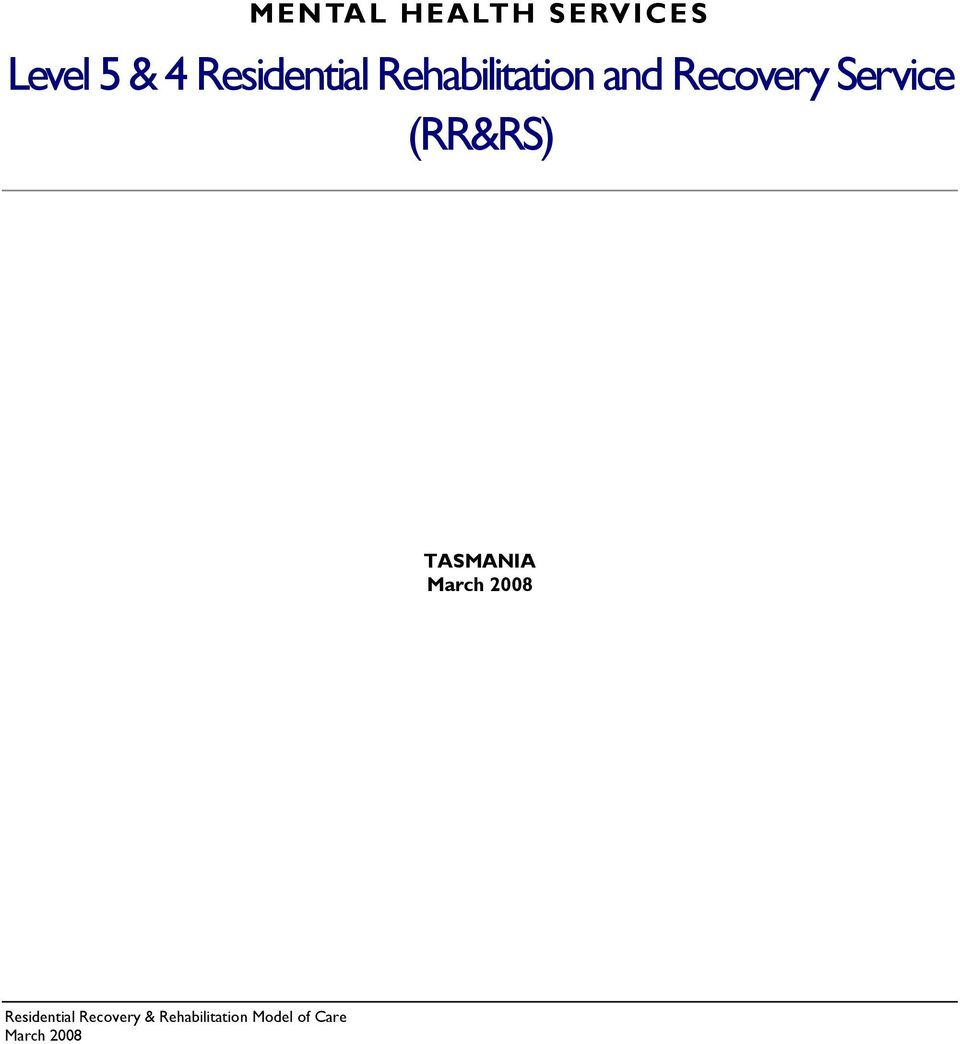 and Recovery Service (RR&RS)