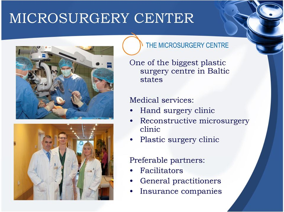 Reconstructive microsurgery clinic Plastic surgery clinic