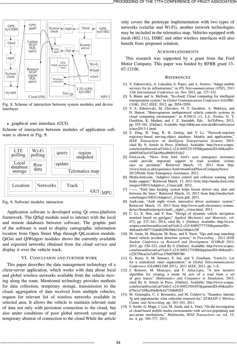 This paper was funded by RFBR grant 13-07-12106. REFERENCES Fig. 8. Scheme of interaction between system modules and device interfaces graphical user interdace (GUI).