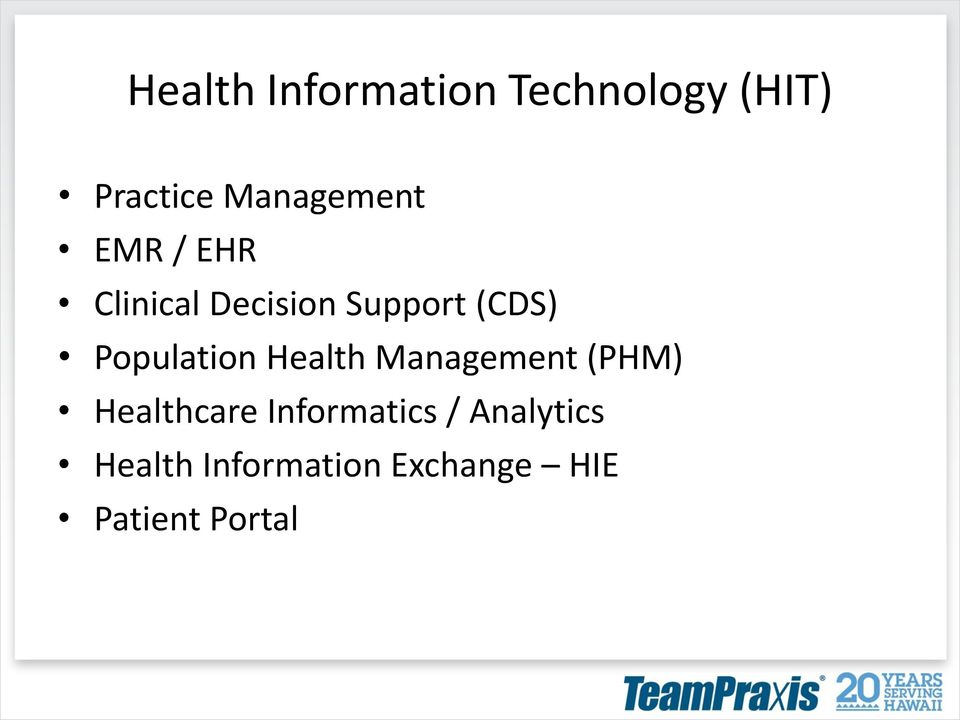Population Health Management (PHM) Healthcare