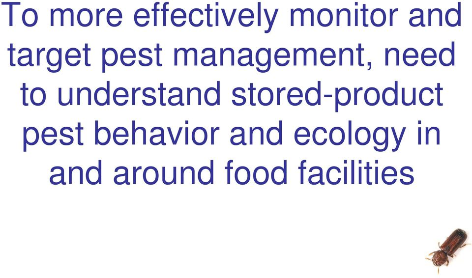 understand stored-product pest